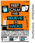 keep calm and believe in magic  ... | Shutterstock .eps vector #495826966