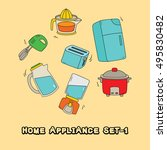home appliance icon hand drawn... | Shutterstock .eps vector #495830482