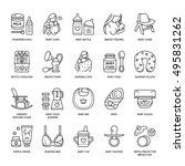 modern vector line icon of... | Shutterstock .eps vector #495831262