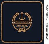 anchor logo | Shutterstock .eps vector #495832042