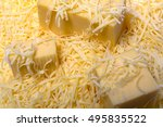 grated a hard cheese texture... | Shutterstock . vector #495835522