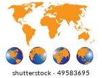 world map | Shutterstock .eps vector #49583695