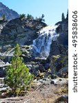 Small photo of Waterfall Kuyguk. The Altai Mountains