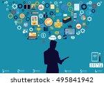 technology business... | Shutterstock .eps vector #495841942