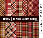 set tartan seamless pattern.... | Shutterstock .eps vector #495844156