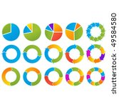 set of different arrow circles... | Shutterstock .eps vector #49584580