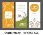 rice thailand food product... | Shutterstock .eps vector #495851566