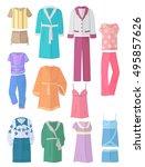 women's household clothing in...   Shutterstock .eps vector #495857626