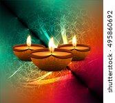abstarct happy diwali background | Shutterstock .eps vector #495860692