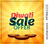 diwali sale offer with three... | Shutterstock .eps vector #495861112