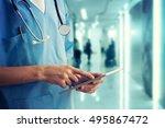 healthcare and medicine. doctor ... | Shutterstock . vector #495867472