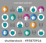 chat bot icons. virtual chatter ... | Shutterstock .eps vector #495870916