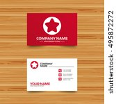 business card template. star...