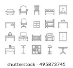 home and office furniture... | Shutterstock .eps vector #495873745