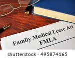 fmla family medical leave act... | Shutterstock . vector #495874165