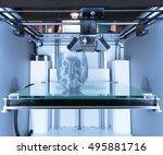 3d printer  fdm . fused... | Shutterstock . vector #495881716
