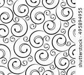 seamless abstract curlicue... | Shutterstock .eps vector #495894955