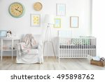 interior of modern baby room | Shutterstock . vector #495898762