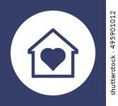heart  icon. flat design.   Shutterstock .eps vector #495901012