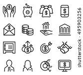 bank   financial icon set in... | Shutterstock .eps vector #495903256