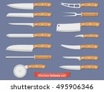 set of different kind of knives.... | Shutterstock .eps vector #495906346