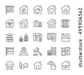 real estate and building icon... | Shutterstock .eps vector #495906562