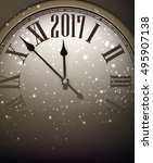 2017 new year shining... | Shutterstock .eps vector #495907138