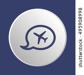 aircraft icon. flat design. | Shutterstock .eps vector #495908998