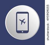 aircraft icon. flat design. | Shutterstock .eps vector #495909055