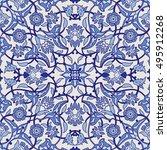 stylized flowers oriental...   Shutterstock .eps vector #495912268