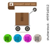 icon transport parcel colorful...