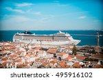 lisbon  portugal  september... | Shutterstock . vector #495916102