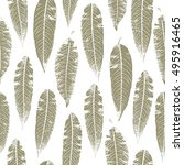 autumn seamless pattern with... | Shutterstock .eps vector #495916465