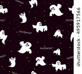 seamless pattern of cute and... | Shutterstock .eps vector #495917566