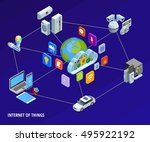 internet of things iot smart... | Shutterstock .eps vector #495922192