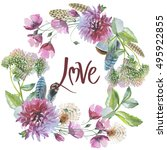 wildflower chrysanthemum flower ...   Shutterstock . vector #495922855