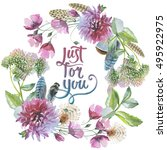 wildflower chrysanthemum flower ...   Shutterstock . vector #495922975