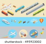 public and personal transport... | Shutterstock . vector #495923002
