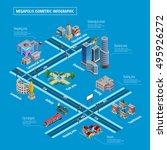 megapolis multilevel... | Shutterstock .eps vector #495926272
