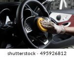 car detailing series   cleaning ... | Shutterstock . vector #495926812