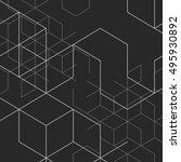 vector abstract boxes...   Shutterstock .eps vector #495930892