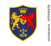 classic royal emblem badge...   Shutterstock .eps vector #495940636