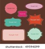 vintage frames | Shutterstock .eps vector #49594099