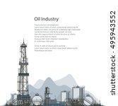 oilfield  drilling oil or... | Shutterstock .eps vector #495943552