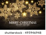 christmas greeting card and... | Shutterstock .eps vector #495946948