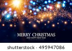 merry christmas and happy new... | Shutterstock .eps vector #495947086