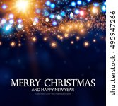 merry christmas and happy new... | Shutterstock .eps vector #495947266