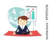 vector illustration funny... | Shutterstock .eps vector #495955156