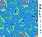 seamless floral pattern | Shutterstock . vector #495955252