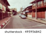 image of abstract blur road on... | Shutterstock . vector #495956842